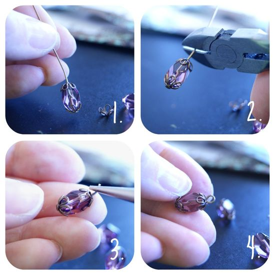 How To Make a Simple Loop with a Bead Cap for Beaded Jewelry #tutorial