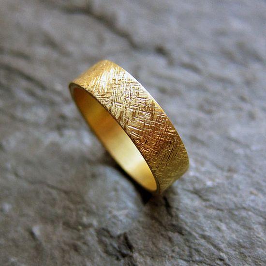 22k yellow gold wedding band, $600