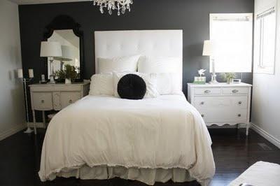 i love grey bedrooms.