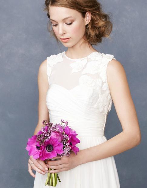 wedding hair & sweet bouquet