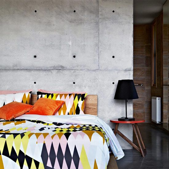 "TheDesignerPad - Post- ""CONCRETE DREAMS"" #concretedesign #designer #colourful #design #bedroom #geometric"