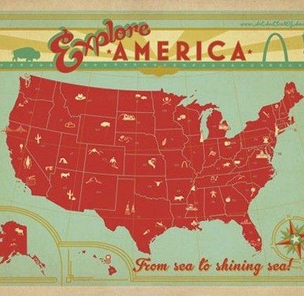 Map of the USA Print