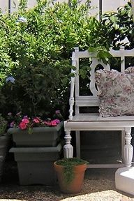 Before and After DIY Decor: Turning Old Chairs and Bits of Wood Into a One-of-a-Kind Garden