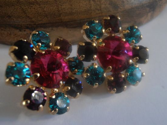 Fuchsia Multicolors Old Vintage Style by ParisiJewelryDesigns, $37.00