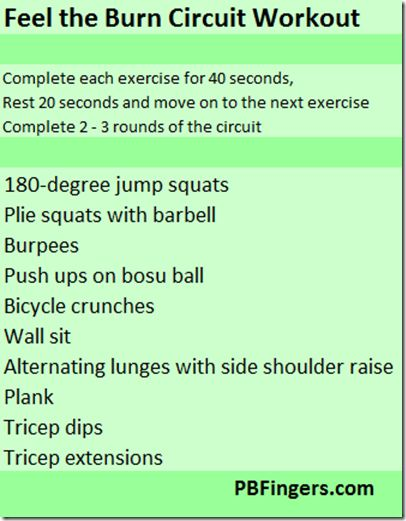 Feel the Burn! Circuits #fitfluential @pbfingers