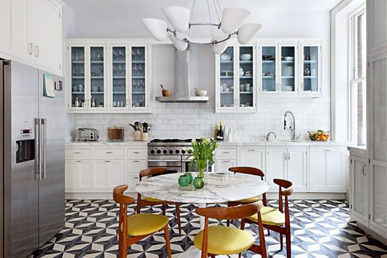 Mid-Century Kitchen Tile Flooring - Kitchen Design Ideas & Pictures (EasyLiving.co.uk)