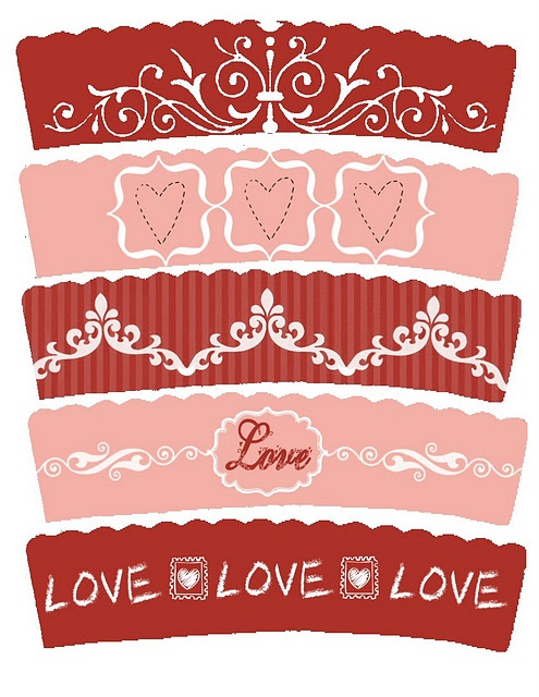 Valentine's Day Freebie Cupcake Wrappers