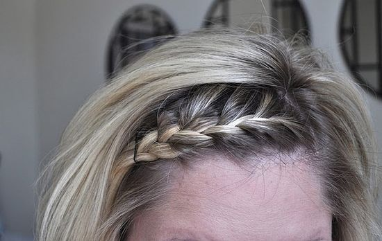French braided bangs.