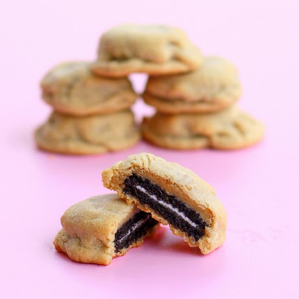 i could try this... oreos in a peanut butter cookie