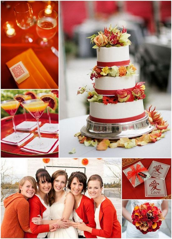 Orange and red theme