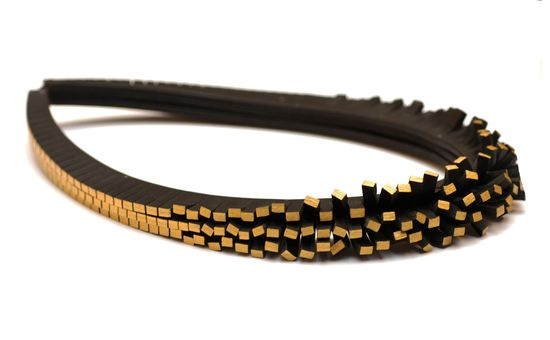 Entropy Necklace in leather by Tania Clarke Hall. http://www.taniaclarkehall.com/