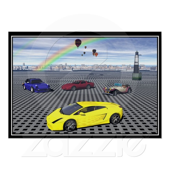 Sports Cars balloons Posters