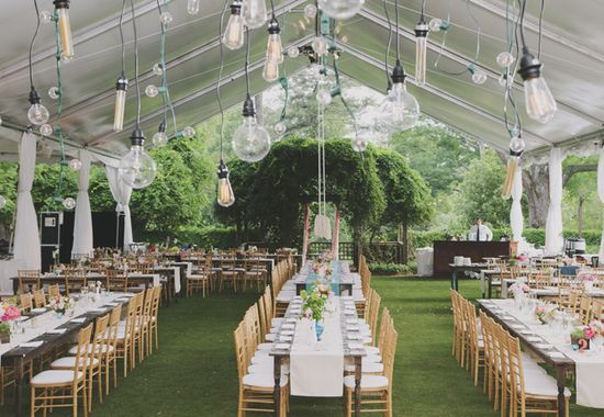 A Whimsical Garden Party Wedding// From: The Knot// By: Our Labor of Love
