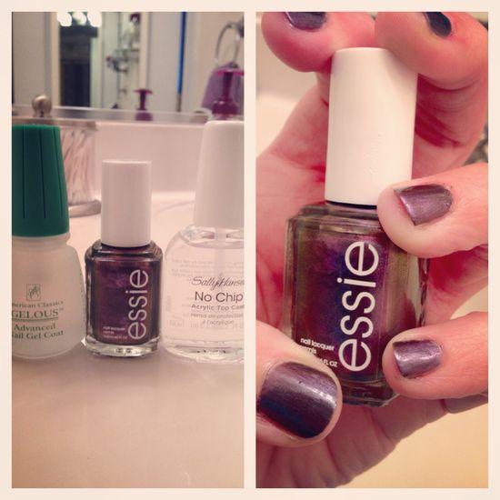 Do it yourself gel manicure! #essie #forthetwillofit #sallyhansen