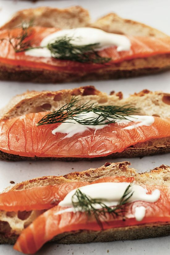Make your sandwich an open face one with cured salmon and dill. Maltby Street Market in #London