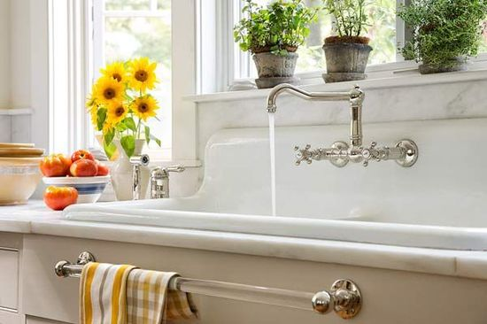 farmhouse whole house remodel kitchen with salvaged cast iron sink (I must have this sink!)