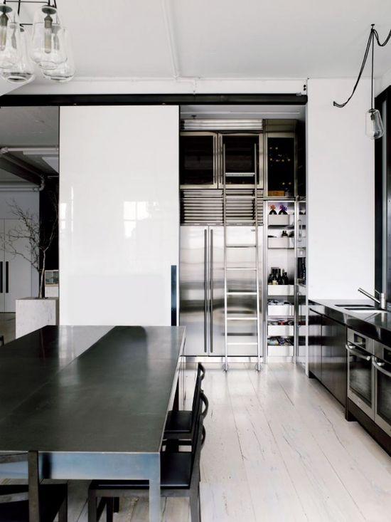 hidden pantry // Tribeca Loft