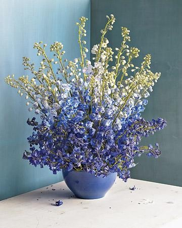 Stun Mom on Mother's Day with this Delphinium and Larkspur Arrangement that's at once subtle and opulent.