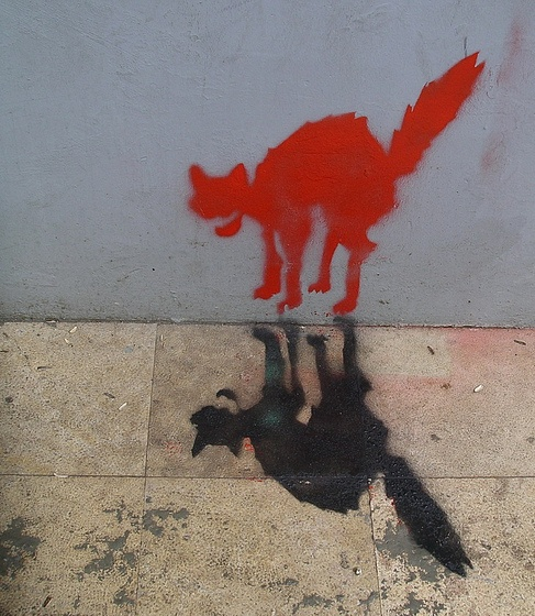 cat graffiti #street art