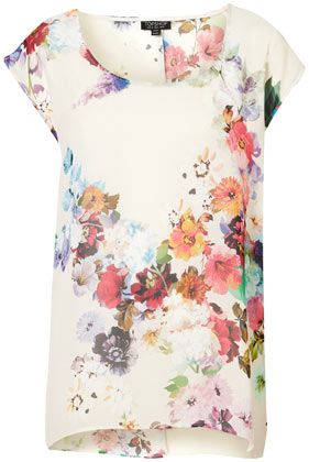 TOPSHOP  Floral Oversized Tee