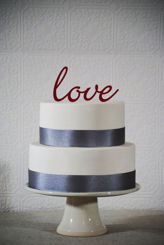 love - Color Wedding cake topper