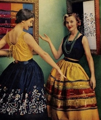 1950's Fashion...love the skirts.