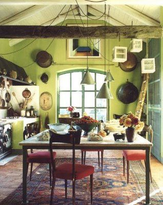 Green Farmhouse Kitchen