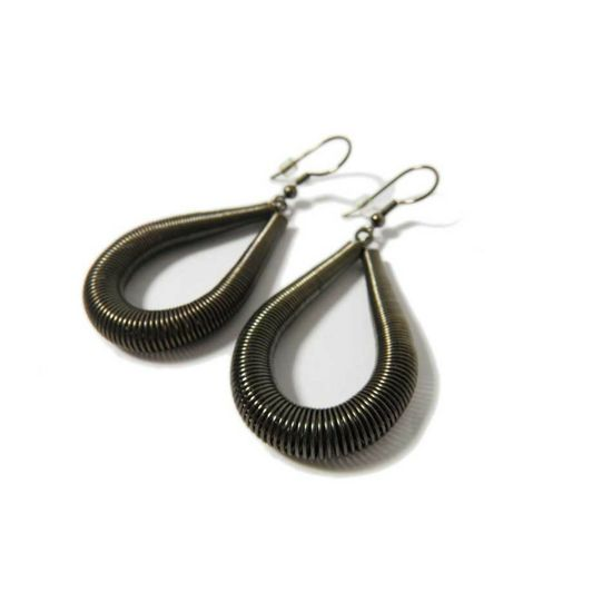 Loop Earrings, Antique Silver Look #FairTuesday Cool, modern, industrial #stockingstuffer for mom, sister, aunt, or friend.