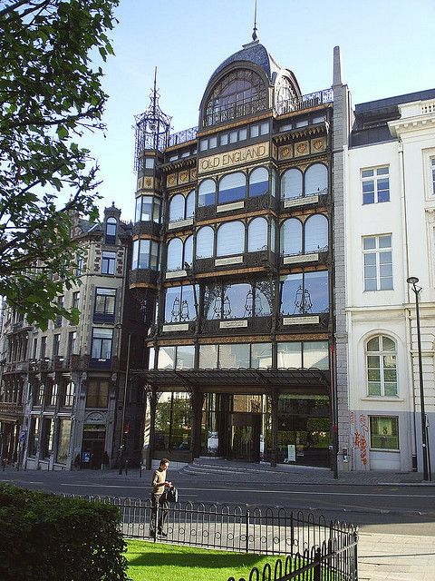 Old England Building in Brussels, Belgium. Now the home of a museum of musical instruments.