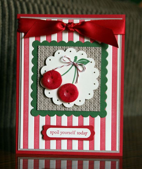 Spoil yourself today...Stamps:Button Buddies, Bring on the Cake...By:krystalscardsandmore.