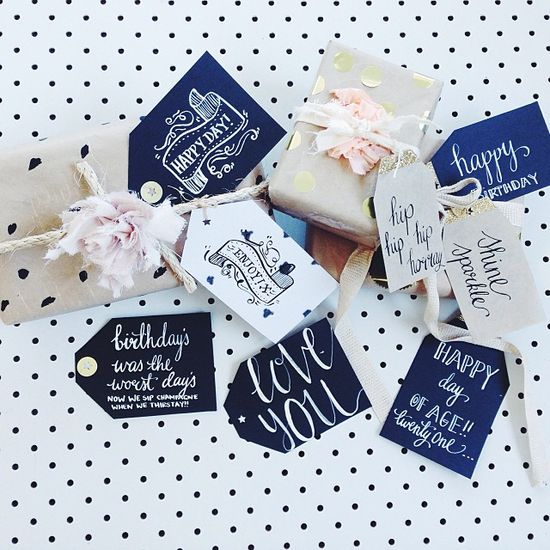 Hand made gift tags and wrapping   www.dandymoon.big...