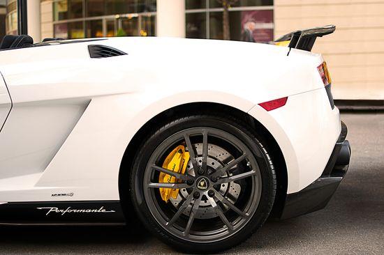 Sexy white car.