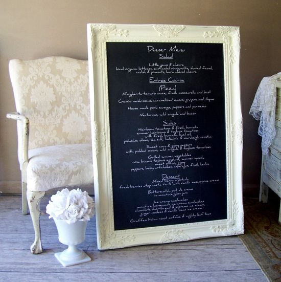 Chalkboard Sign , Written Menu, Wedding Chalkboard, Restaurant Chalkboard. $359.00, via Etsy.