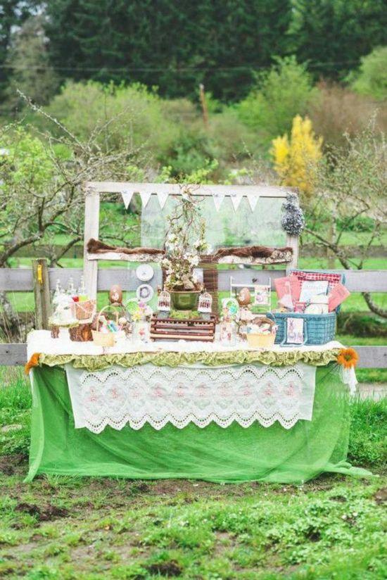Vintage Easter Picnic Party via Karas Party Ideas