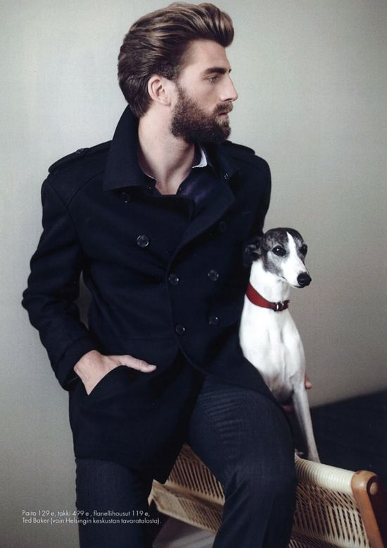 No man's outfit is complete without a whippet.