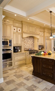 kitchen design...never thought I would like white cabinets but I love this kitchen design