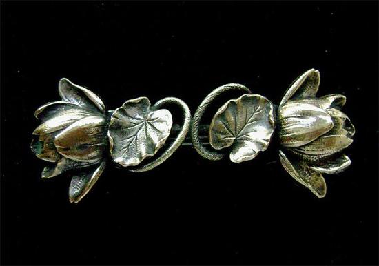 Art Nouveau Water Lily clasp