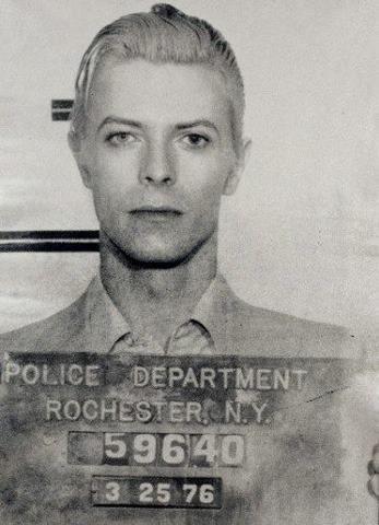 Celebrity Mug Shots: David Bowie mug shot.