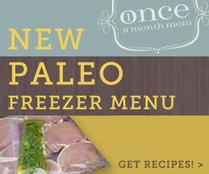 Freezer Cooking Paleo Menu