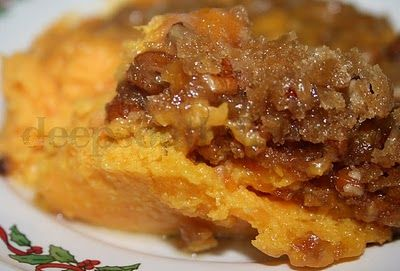 Praline Butternut Squash and Sweet Potato Casserole