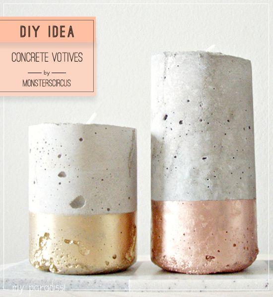 DIY Concrete votives by monsterscircus