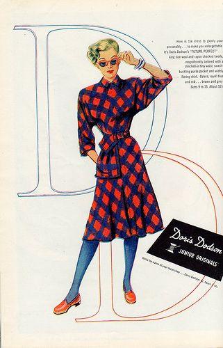 Doris Dodson Junior Originals, 1946. #vintage #1940s #fashion