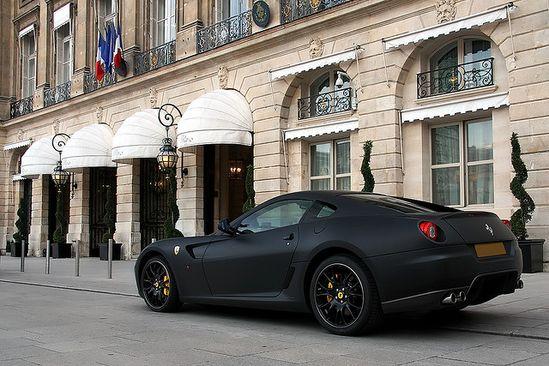 Velvety matte black Ferrari 599 / alexandre besançcon