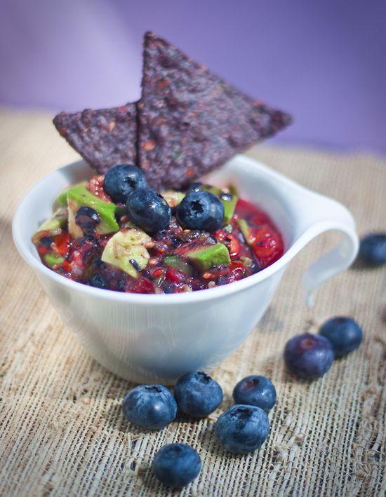 Blueberry Avocado Salsa (raw, vegan)