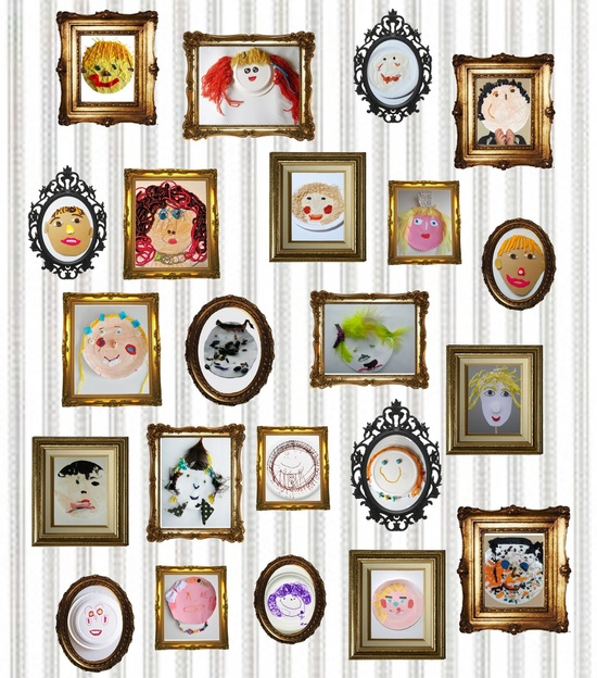 Kids' Self-Portrait Exhibition by lilla-a-design.bl...: Inspiration! #Kids #Self_Portrait #lilla_a_design