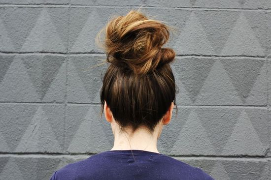 How to Style a Top Knot, a Beautiful Mess?