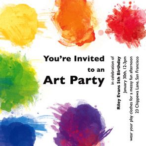 Art party invite
