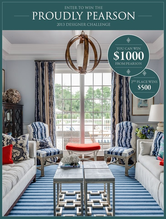 Enter to win the Proudly Pearson 2013 Designer Challenge! from Pearson Furniture   -pinned with Pinvolve  Meridien  Furnishing The World
