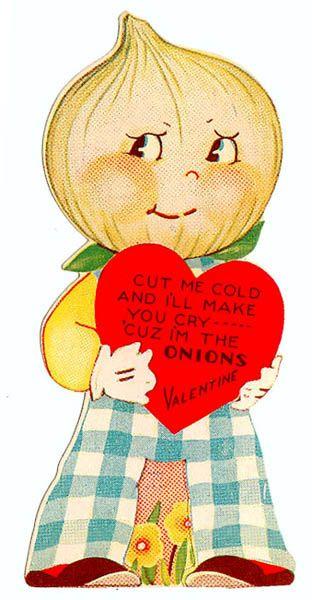 Vintage Valentine: Onion Head