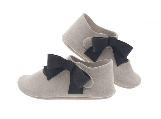 Suede baby shoes with wool insole -- toasty warm and cute as can be.  From BRIKA